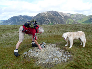 Roger adds a few stones to the summit of Mellbreak