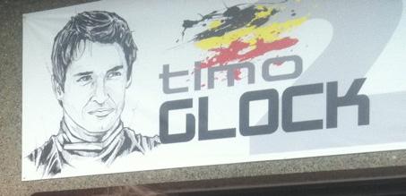 табличка над боксами Тимо Глока на Гран-при Канады 2011