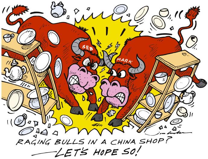 Red Bull в китайском магазине посуды - комикс Jim Bamber