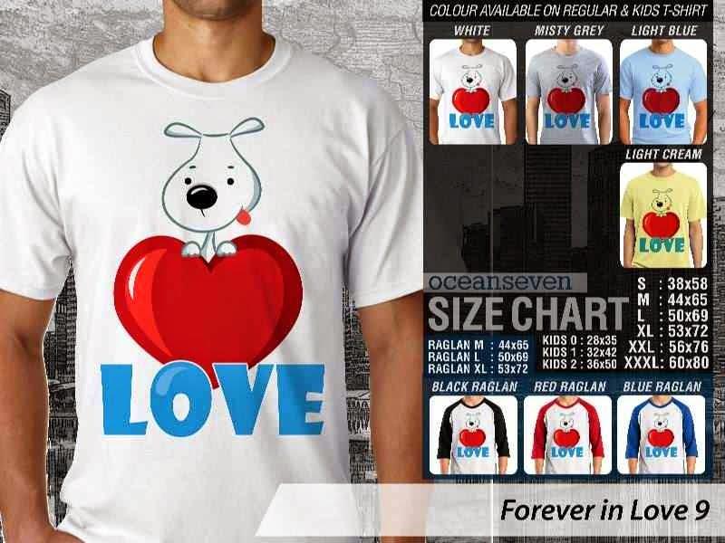 KAOS Serasi Love |KAOS Forever in Love 9 distro ocean seven