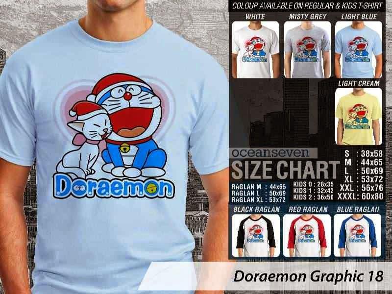 KAOS Doraemon 58 Manga Lucu distro ocean seven