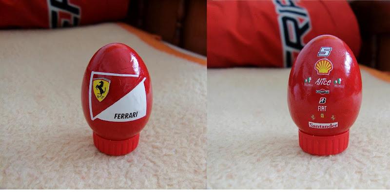 пасхальное яйцо в цветах Ferrari
