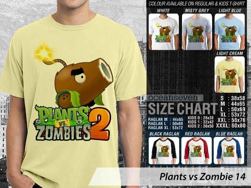 KAOS Plants VS Zombie pvz 14 Game Lucu distro ocean seven