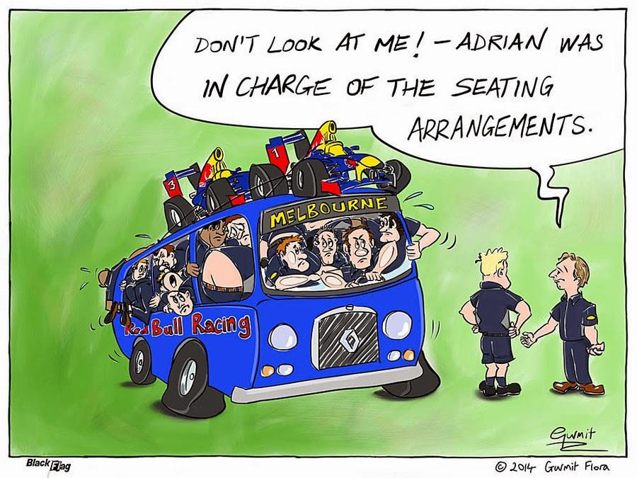 Эдриан Ньюи проявляет талант плотной компоновки - комикс Black Flag перед Гран-при Австралии 2014
