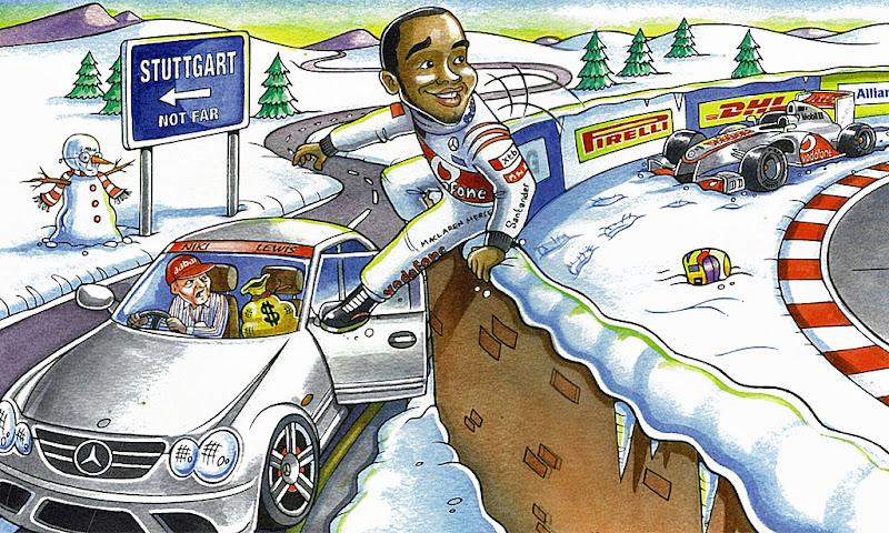 Рождественская открытка Берни Экклстоуна 2012