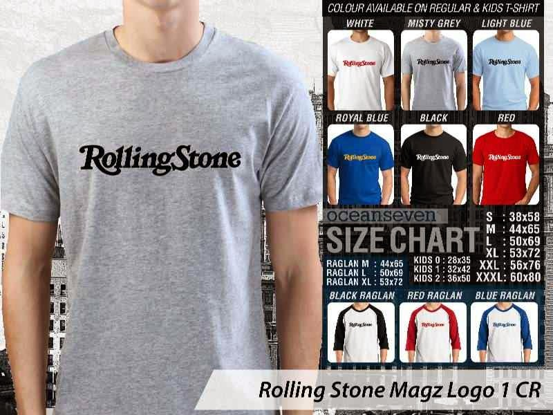 Kaos Magz Rolling Stone Magz Logo 1 Majalah & Media distro ocean seven