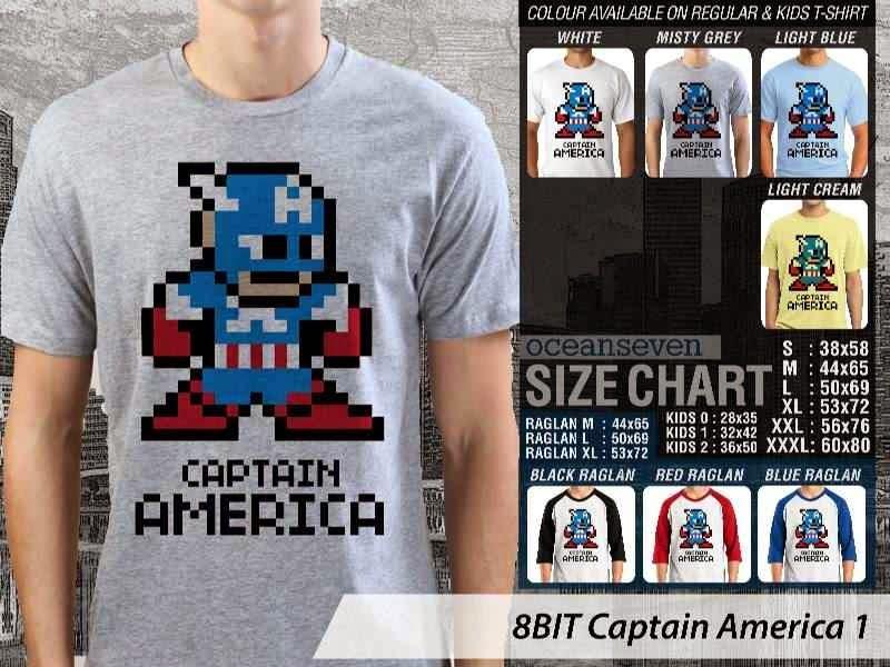 Jual Kaos Captain America 8BIT
