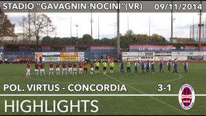 Polisp. Virtus - Concordia - Highlights del 09-11-2014
