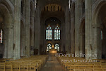 The interior of Romsey Abbey