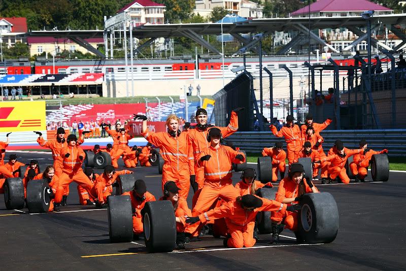 представление на стартовой решетке Гран-при России 2014