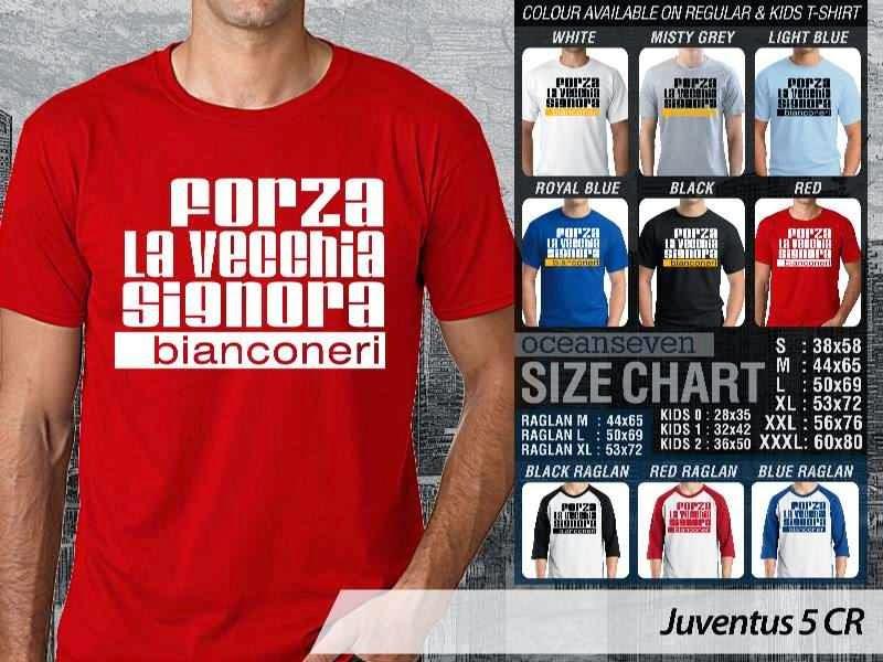 Kaos Bola Juventus 5 Lega Calcio distro