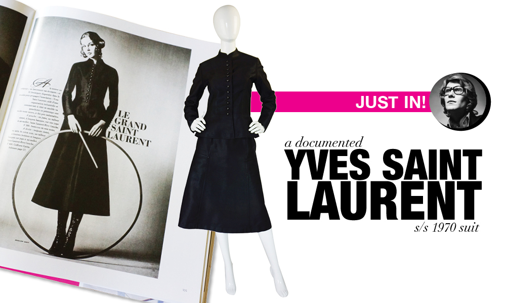 A Documented piece by the original Yves Saint Laurent