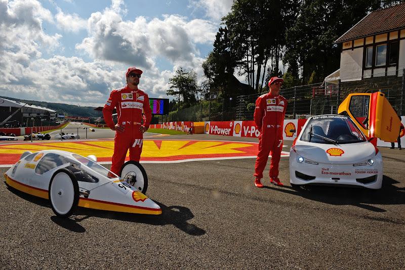 Фернандо Алонсо и Кими Райкконен на Эко-Марафоне Shell на Гран-при Бельгии 2014