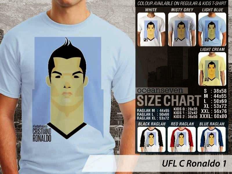KAOS Cristiano Ronaldo 1 Kartun Bola distro ocean seven