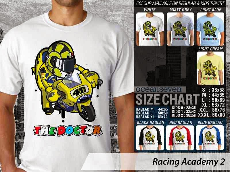 Kaos 46 Balap Racing Academy 2 The Doctor Valentino Rossi