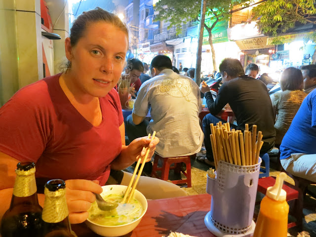 A typical streetside Vietnamese noodle/pho joint.