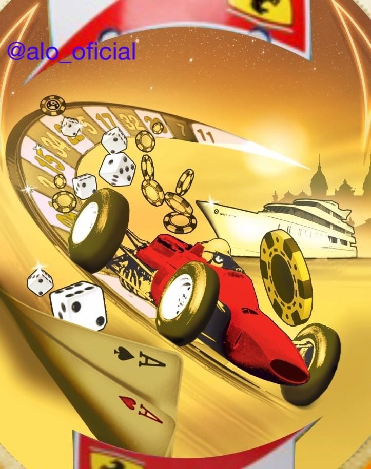 болид Ferrari на шлеме Фернандо Алонсо для Гран-при Монако 2012
