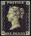 Sello Penny Black de la Reina Victoria