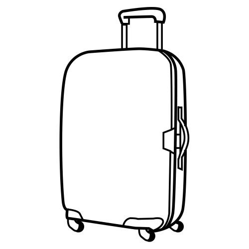 Free Coloring Pages Of Suitcases Luggage