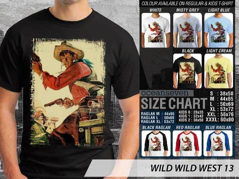 Kaos Cowboy Americana 13 Wild West distro ocean seven