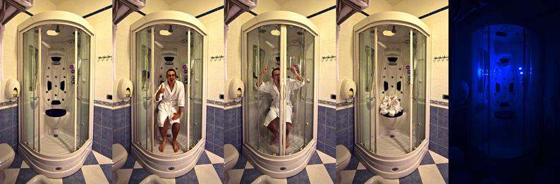 My bathroom adventures in Cefalù's Villa Gaia hotel