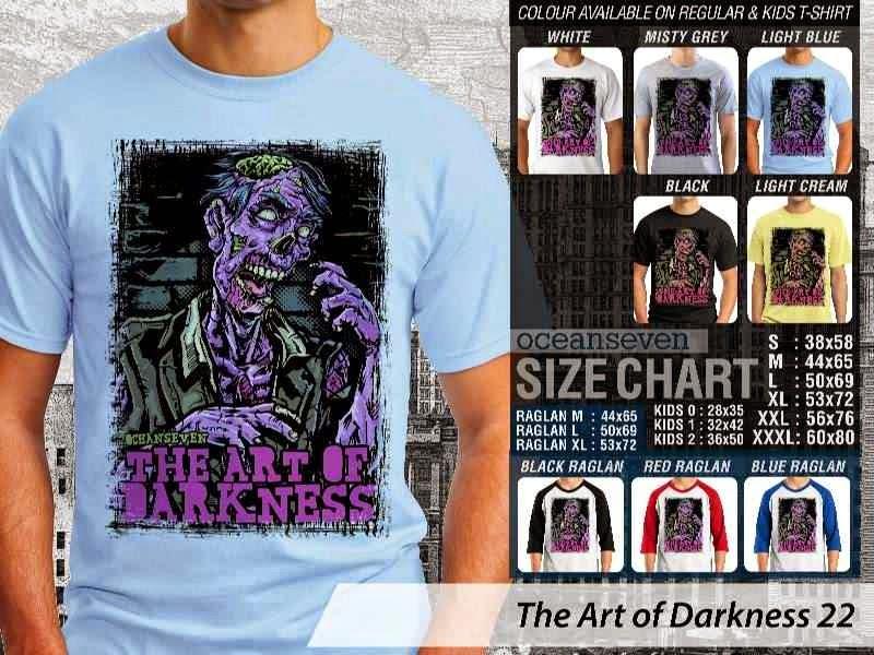 KAOS keren zombie The Art of Darkness 22 distro ocean seven