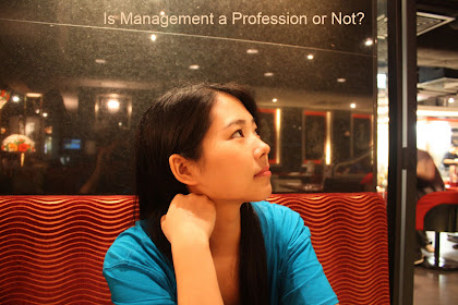 management as a profession or not