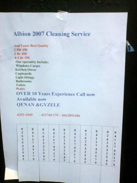 cleaning poster
