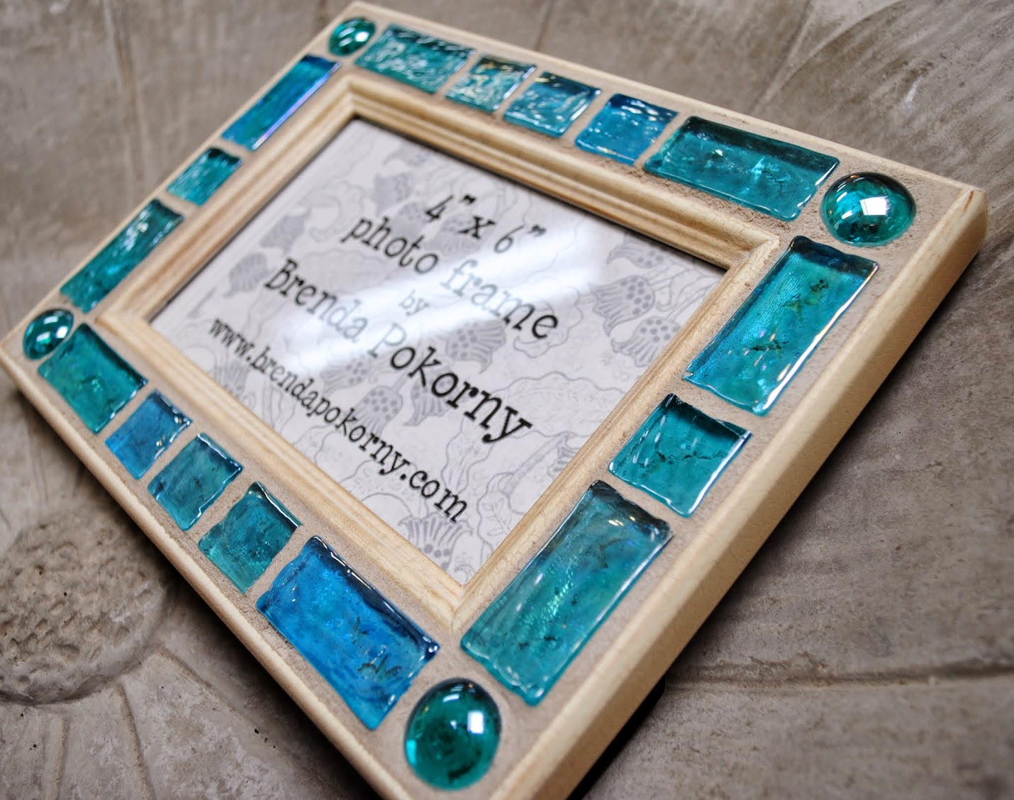 Cool Water Blocks 4 x 6 Mosaic Photo Frame MOF1377
