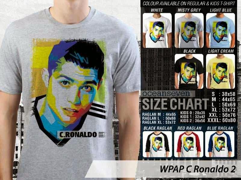 KAOS Cristiano Ronaldo 2 Desain Pop Art distro ocean seven
