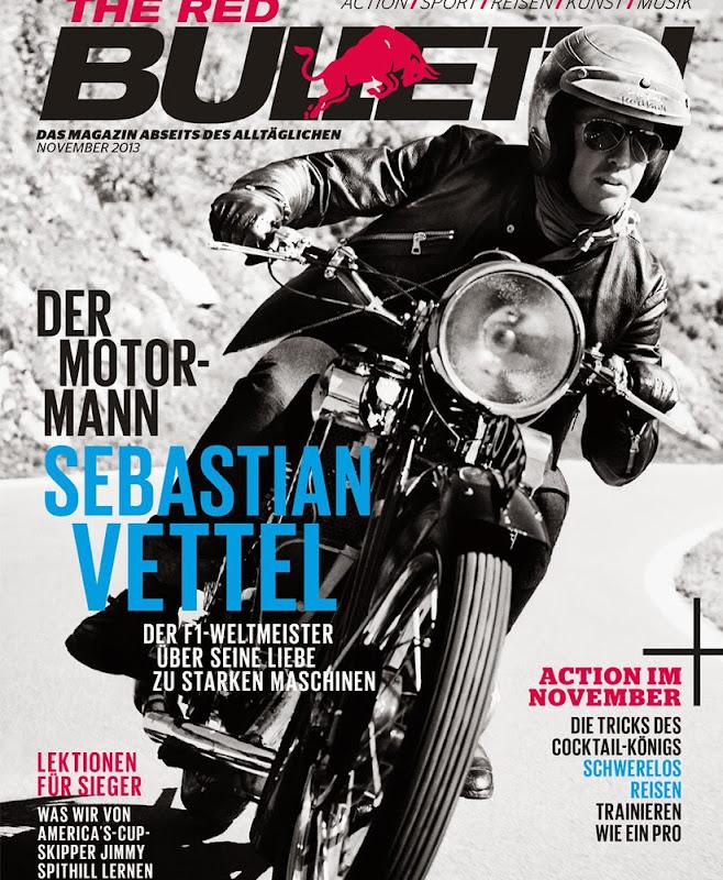 Себастьян Феттель на обложке ноябрьского выпуска The Red Bulletin 2013