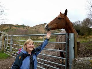 Ann and a hose near Irton Road