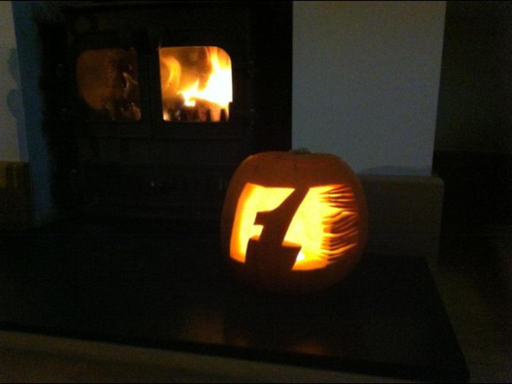 F1 halloween pumpkin 2012