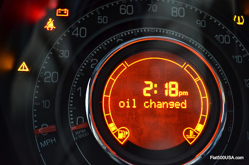 Fiat 500 Oil Change Message