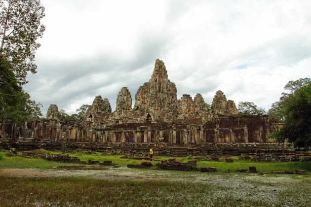 Beautiful faces of the Bayon Temple, Siem Reap, Cambodia