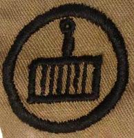 Girl Scout Badge 1917: Cook. (Gridiron) - DaisyLow.com Website designed n Memory of Eileen Alma Klos (1929-1974)