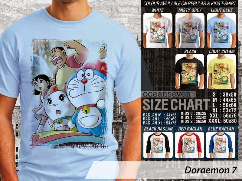 KAOS Doraemon 7 Manga Lucu distro ocean seven