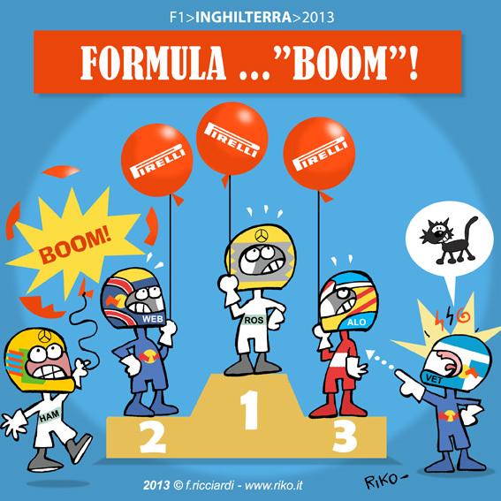 Formula BOOM - комикс Riko по Гран-при Великобритании 2013