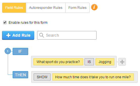 Form Rules - Conditional Logic
