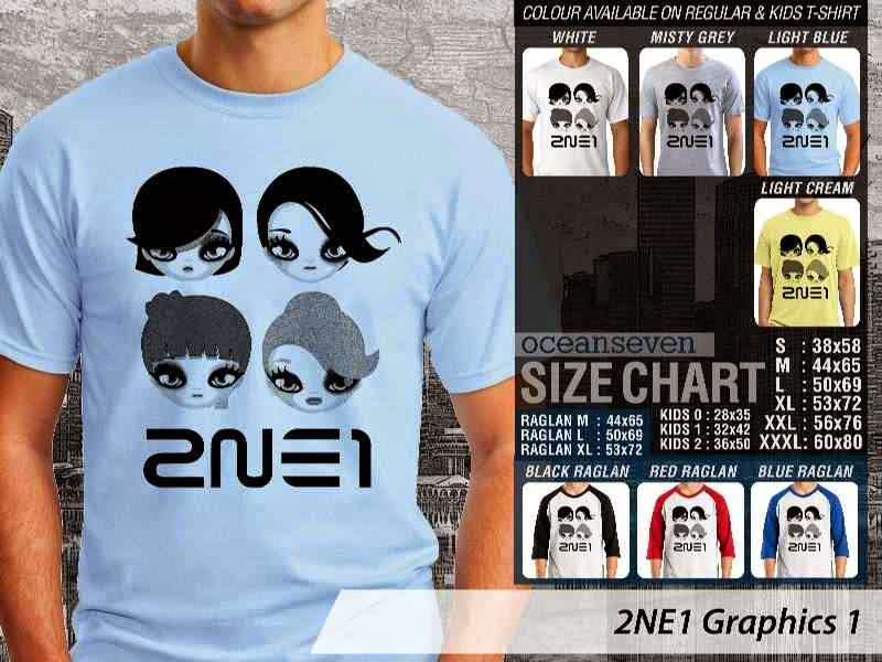 Jual KAOS 2NE1 Signature 3 K Pop Korea distro ocean seven