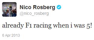 Нико Росберг в твиттере о своей гоночной карьере