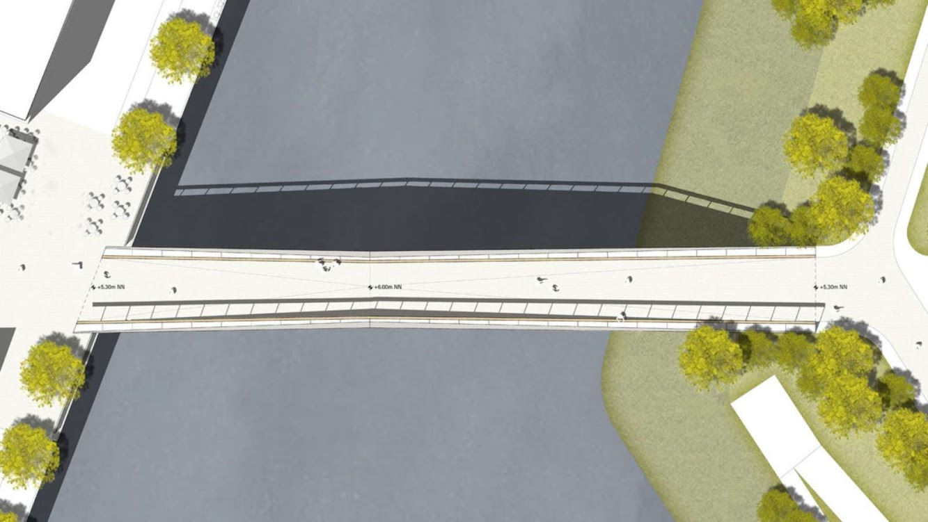 Gmp Wins the Pedestrian and Cycle Bridge Competition