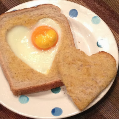 Love Heart Egg Toast. Valentines Day.