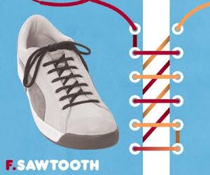 Memasang Tali Sepatu dengan Trik Sawtooth