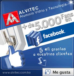Más de 5.000 fans en facebook Alvitec - Aluminio Vidrio y Tecnología