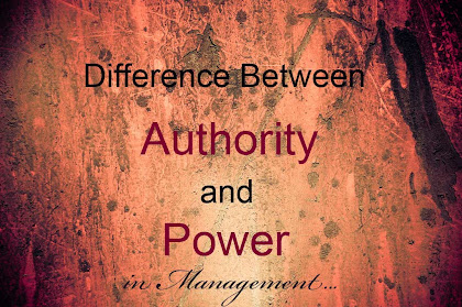 difference between authority and power