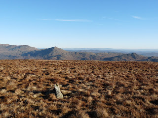 The distinct pointed top of Caw from the summit of Hesk Fell