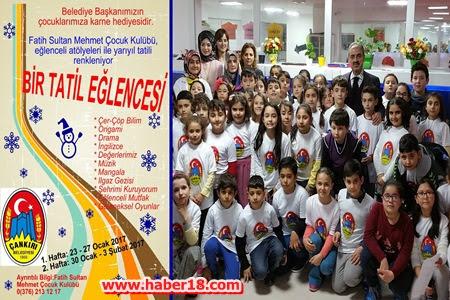 Başkan Dinç'ten Çocuklara Karne Hediyesi
