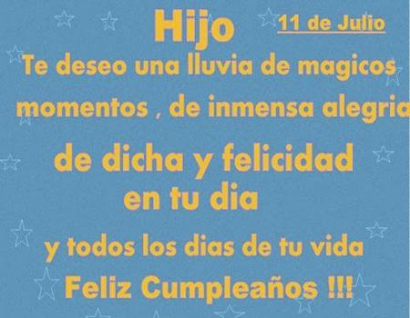 Bonitas palabras para desear feliz cumpleaños a un hijo cumpleañero