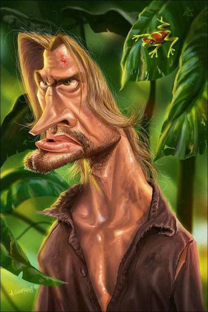 Джош Холлоуэй - Сойер - 18 юмористических карикатур на знаменитостей из 15 известных кинолент